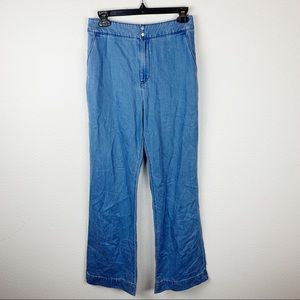 Uniqlo Blue High Waist Wide Leg Pants H323